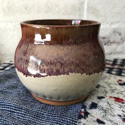 Purple Carved Pot