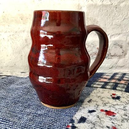 Tall Bumpy Red Mug