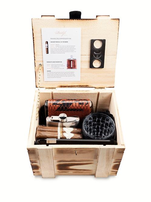 Smokers Box, Vermouth, nginious, Zigarren, Flachmann, Aschenbecher, Gin, Geschenk, Geschenkbox