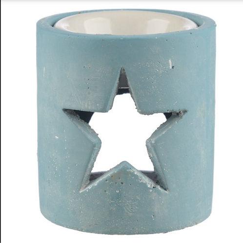 Baby Blue Rustic Concrete Burner