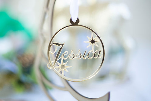 Acrylic Name Baubles