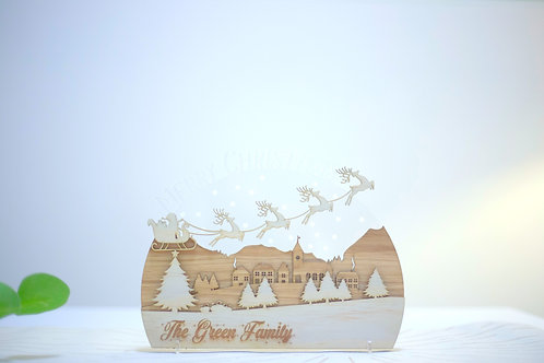 Personalised Christmas Acrylic Town