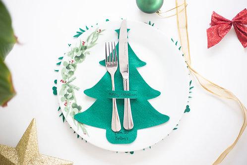Christmas Felt Cutlery Holders