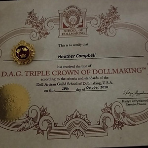 Triple Crown of Doll Making Won by Guild Member Heather Campbell