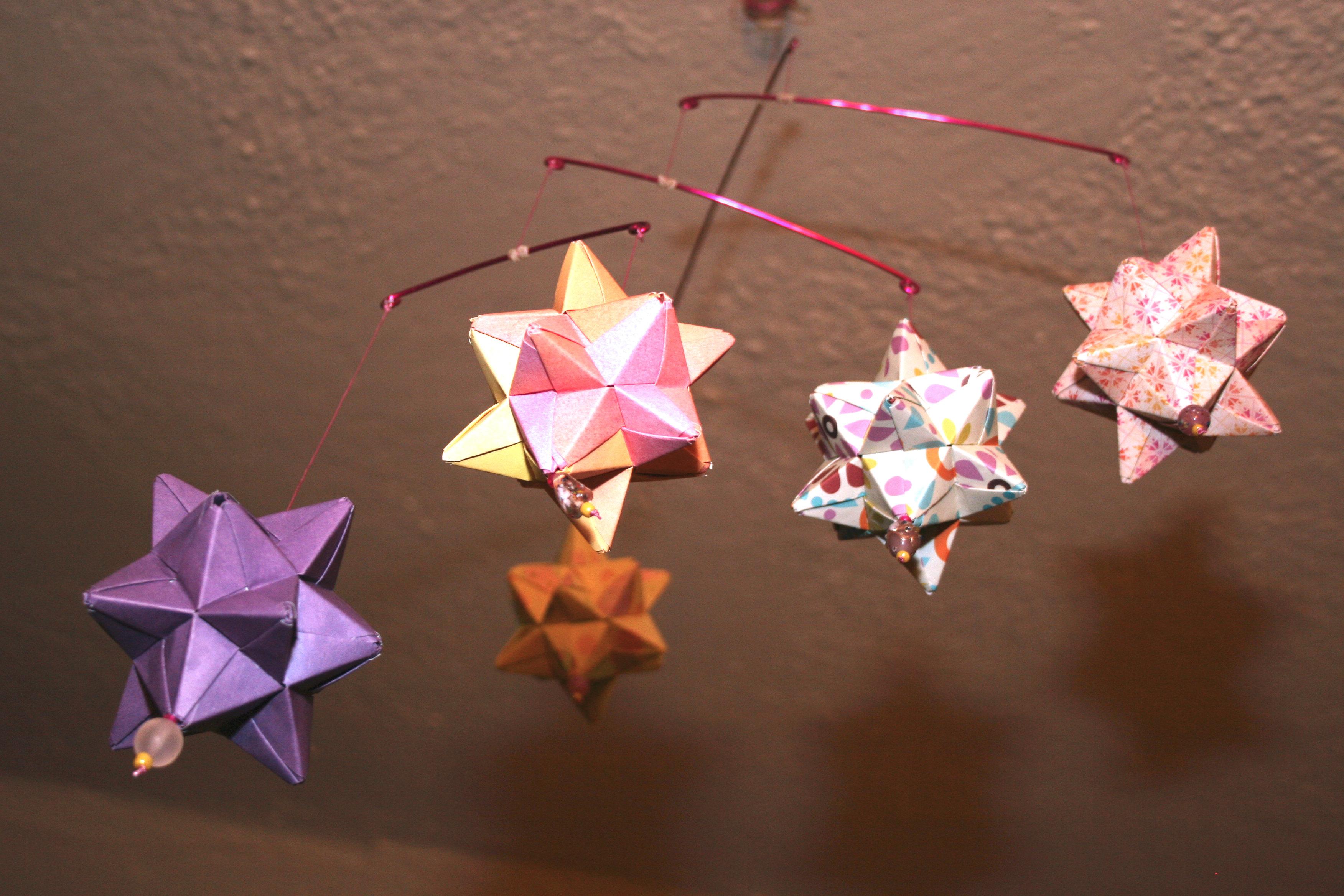 Origami Star Mobile