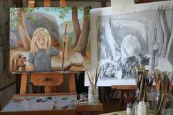 Violet in Studio