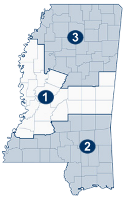 Mississippi Supreme Court Judicial Map - Supreme Court District 1