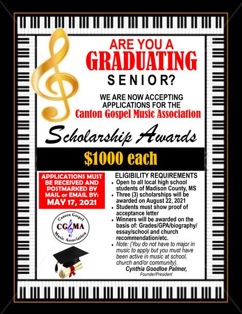 2021 CGMA Scholarship HEADER and APPLICA