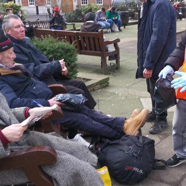 Distributing kits in Central London
