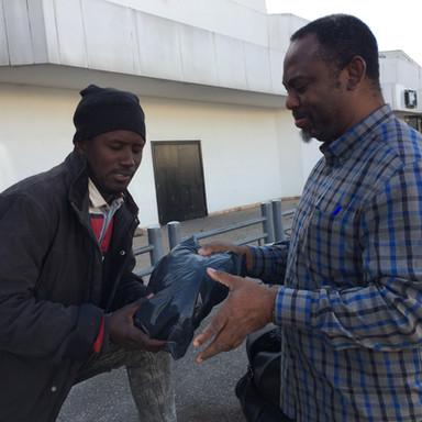 Helping Homeless Refugee In Casablanca