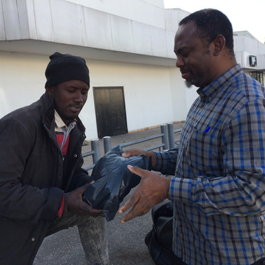 Helping Homeless Refugee In Casablanca