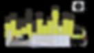 Composição com gráfico e objetos de escritório e obra