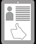 Ícone sobre orientação de perfil.