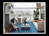 Foto do apartamento finalizado após a obra. Projeto e obra para os clientes Priscila e Eduardo.