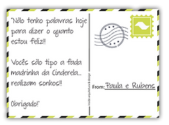 Cartão postal de um depoimento para a equipe INSIDE.