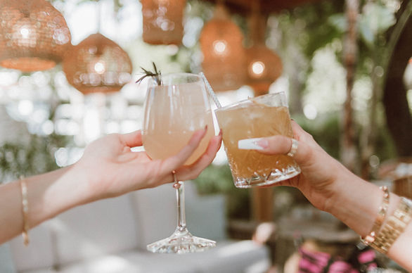 Womens hands cheers