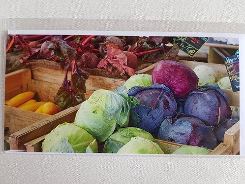 Fotokarte «Weiss- und Blaukabis auf dem Markt»