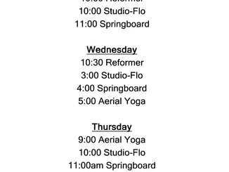 More Classes For Spring!