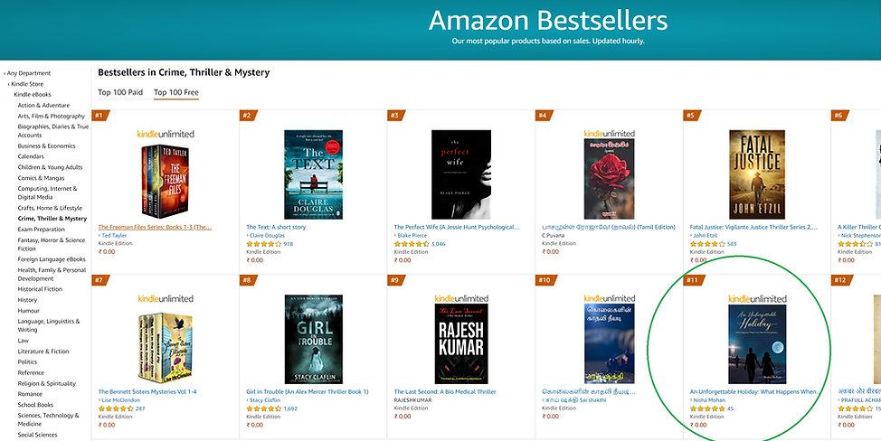 Top11 in Bestsellers in Crime, Thriller