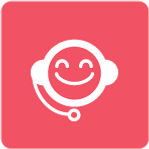 Customer Services Icon - Pink