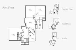 The Cottage First Floor Floorplan