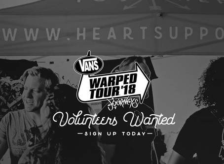 Heart Support on the road.....#warpedtour