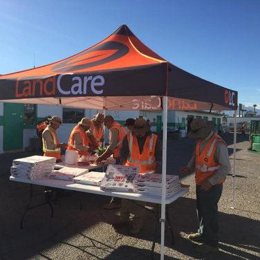 Land Care Las Vegas, CA 10x10 Deluxe Splash Tent with graphics.jpg