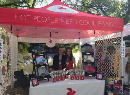 Hot People Need Cool Fans....#fineandfolded @2 day Zilker Garden Festival, Austin TX