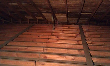 Attic insulation removal, Feces in attic space, Attic clean uptreatment