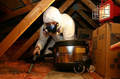 Animal feces in attic space, Attic decontamation, Urine in attic space, Insulation damage treatment