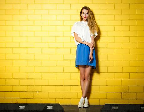 Girl on Yellow