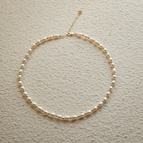 ALLIRA | 14K Gold-Filled Freshwater Pearl Vintage Necklace