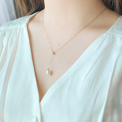 EIRA | 14K Gold-Filled Akoya Pearl Y-Necklace