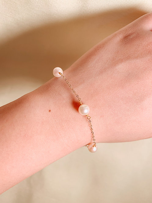 FAYE | 14K Gold-Filled Akoya Pearl Bracelet