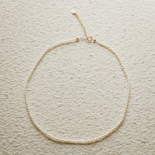JANNA | 14K Gold-Filled Baby Freshwater Rice Pearl Necklace