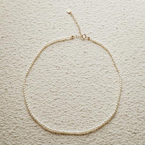 JANNA | 14K包金迷你淡水米珍珠項鍊