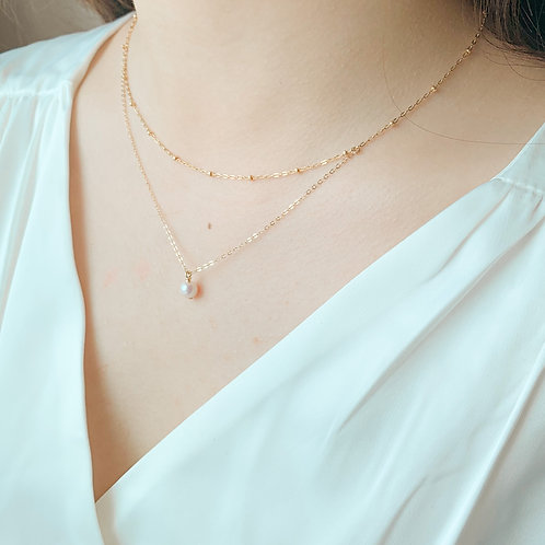 LUCA | 14K Gold-Filled Akoya Pearl Layered Necklace