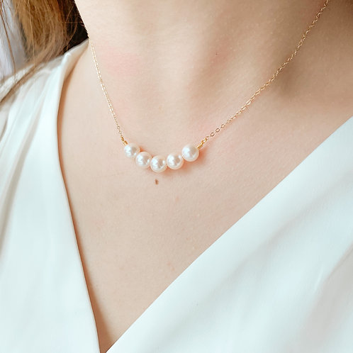 ASTERIN | 14K Gold-Filled Akoya Pearl Necklace