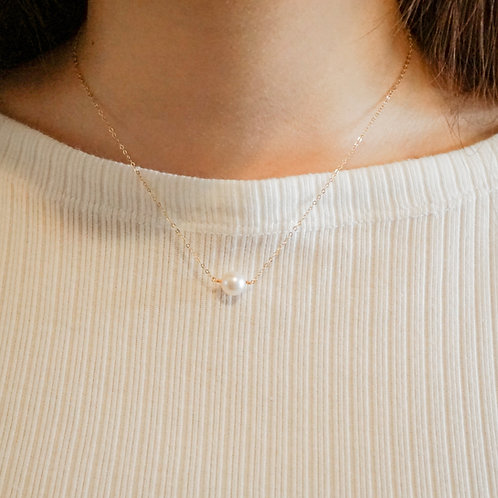 MEIRA   14K Gold-Filled Akoya Pearl Necklace