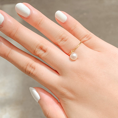NORA    14K Gold-Filled Akoya Pearl Dangling Ring