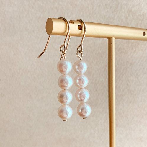 AYLA | 14K Gold-Filled Akoya Pearl Earrings