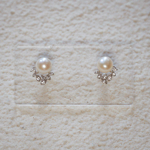 AURORA | Silver 925 Freshwater Pearl Earrings