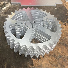 Stacks of POSH sprockets water jet