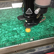 Cutting Malachite with Garnet