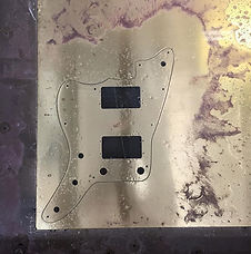 Rockin' brass pick guard