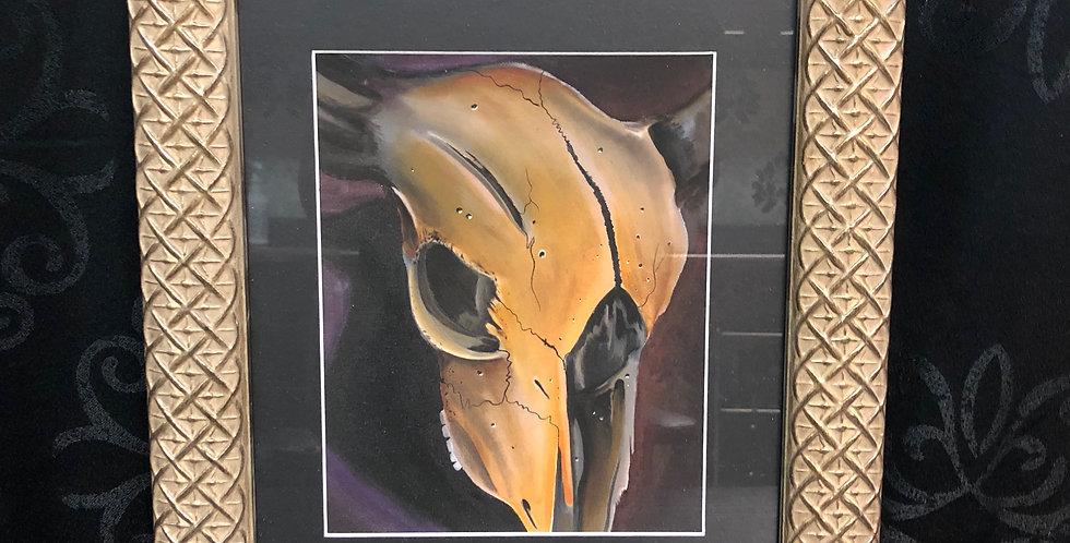 cow skull print a.