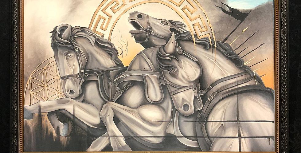 wild horses giclee