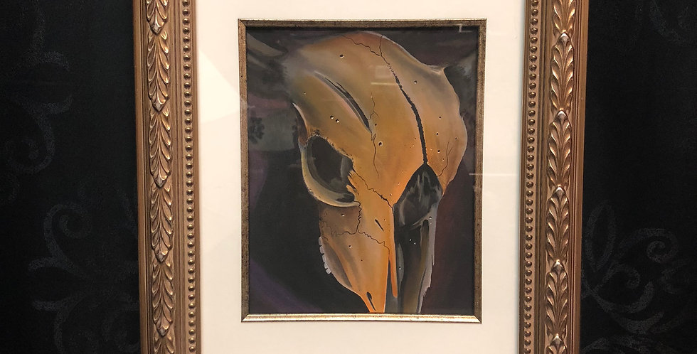 cow skull print b.