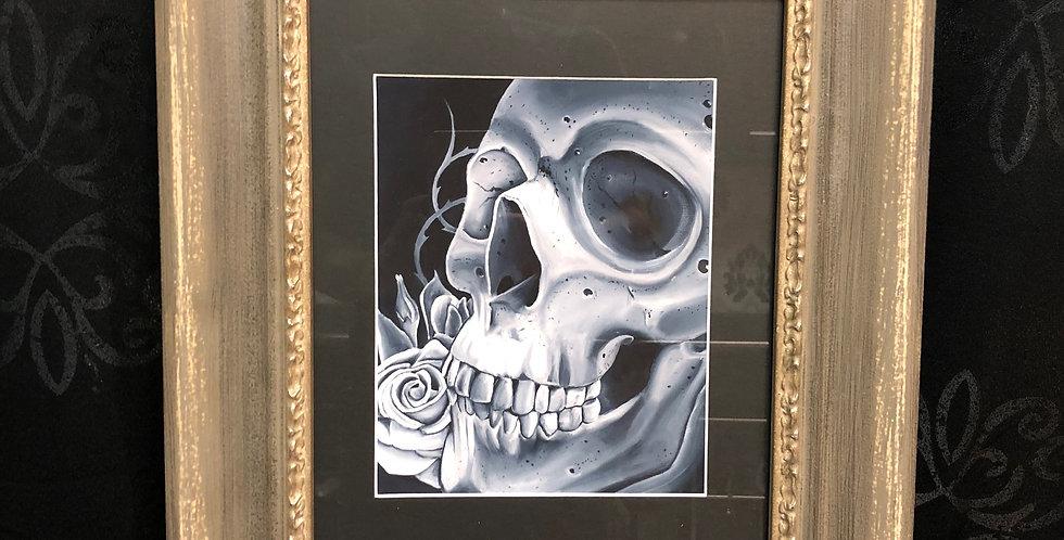 skull study print a.