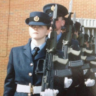 Passing out at RAF Halton in February 2006